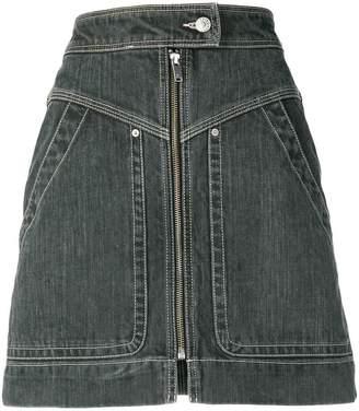 Etoile Isabel Marant zipped denim mini skirt