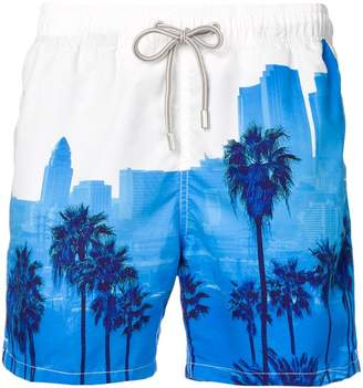 9296449a68 MC2 Saint Barth palm tree print swim shorts