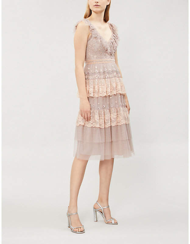 NEEDLE AND THREAD Cinderella tulle dress
