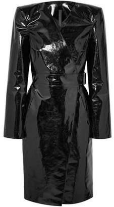 Gareth Pugh Belted Pvc Wrap Dress