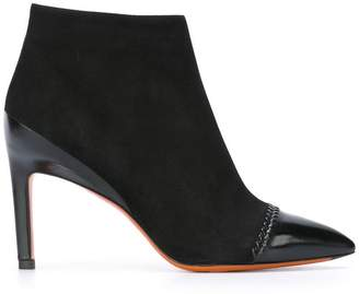 Santoni pointed toe cap ankle boots
