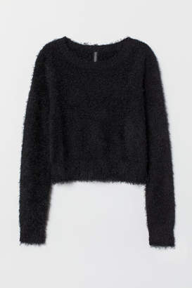 H&M Fluffy Sweater - Black