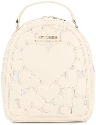 Love Moschino heart-embroidered backpack