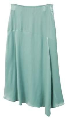MANGO Satin asymetric skirt