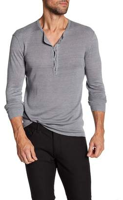 John Varvatos Collection Linen Delave Henley Sweater