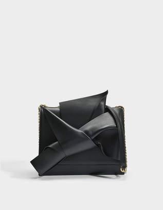 N°21 N21 Large Bow Bag in Black Calfskin