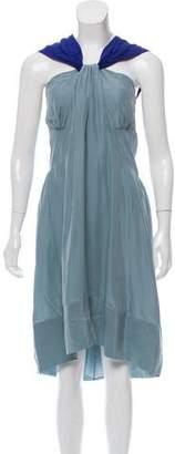CNC Costume National Silk Colorblock Dress