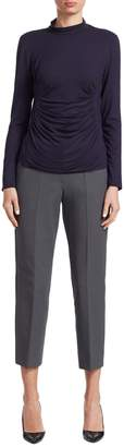Armani Collezioni Women's Solid Cotton Trousers