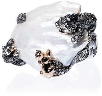 Bibi Van Der Velden 18k rose gold Animal Family Lion ring