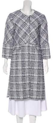 Rosetta Getty Tweed Knee-Length Coat