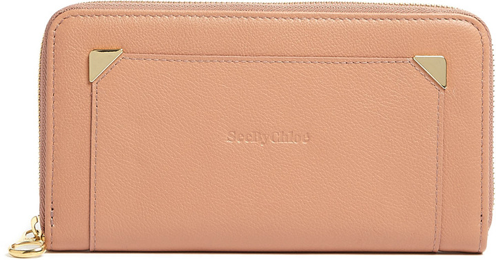 See by Chloe Pink Daisy Zip-round Wallet
