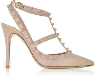 Valentino Poudre Leather Rockstud Pumps
