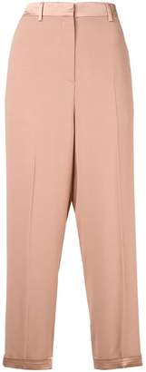 Rochas cropped high-waisted trousers