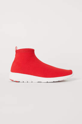 H&M Fully-fashioned Slip-on Shoes - Red
