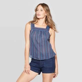 cb2a46d48b48 Universal Thread Women's Sleeveless Striped Square Neck Top - Universal  Thread Rust