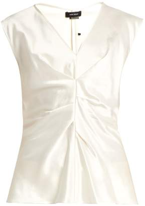Isabel Marant Romney pleated-front satin top