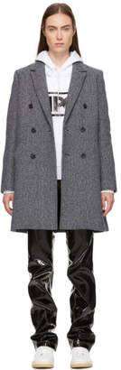 A.P.C. Navy Wool Joan Chevron Coat