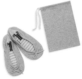 Sofia Cashmere Two-Piece Ballet Slippers & Drawstring Bag Set