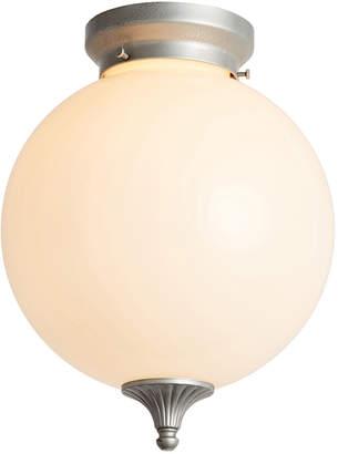 Rejuvenation Art Deco Style Globe Lights w/ Ornate Finial