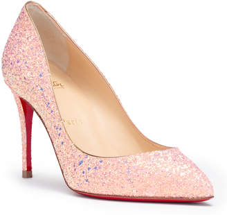 Christian Louboutin Pigalle Follies 85 pink glitter pumps