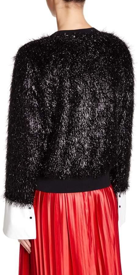 TOV Lustrous Faux Fur Sweatshirt 4