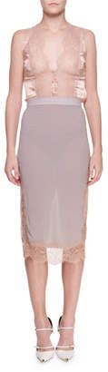 Tom Ford Chantilly Lace Pencil Skirt