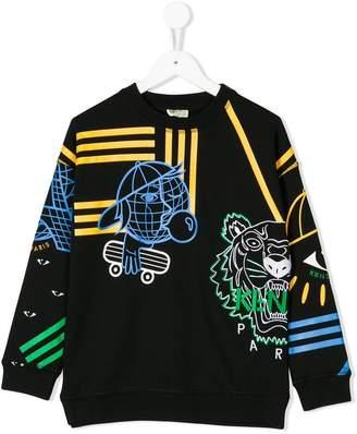 Kenzo colour-block sweatshirt