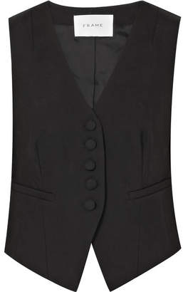 Frame Wool Vest - Black