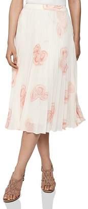 Reiss Aya Peaches & Cream Pleated Skirt