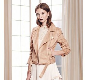 LC Lauren Conrad Runway Collection Faux-Suede Moto Jacket - Women's $120 thestylecure.com