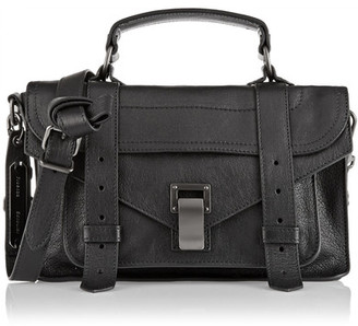 Proenza Schouler - The Ps1 Tiny Leather Satchel - Black $1,475 thestylecure.com