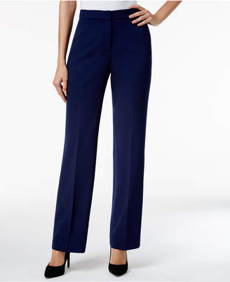 Kasper Straight-Leg Crepe Pants, Regular & Petite