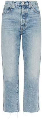 Amo Denim Loverboy Wanderer Raw-Hem Jeans
