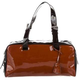 Pre Owned At Therealreal Prada Patent Leather Shoulder Bag