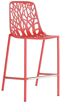 Janus et Cie Forest High-Back Counter Stool - Red