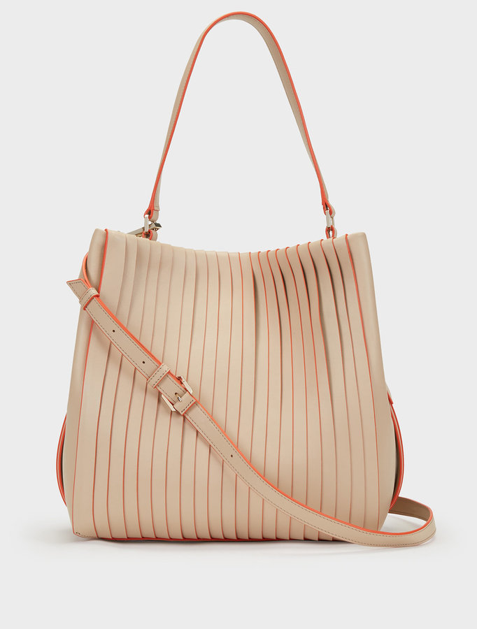 DKNY Medium Calf Leather Pleated Tote