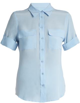 EQUIPMENT Signature short-sleeved silk shirt $198 thestylecure.com