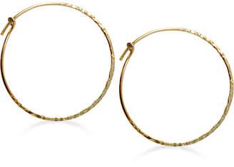 Jody Coyote Hammered Hoop Earrings in 12k Gold-Filled Metal