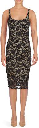 ABS by Allen Schwartz Women's Scoopneck Lace Y-Line Dress