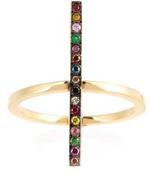 Ileana Makri Rainbow Stones & Yellow Gold Ring - Womens - Yellow Gold