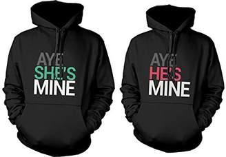0dc9bee376 365 Printing His and Her Matching Hoodies Aye She's Mine, Aye He's Mine Couples  Hoodies