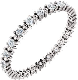 South Beach Diamonds 1.00 ct Ladies Round Cut Eternity Band in Platinum In Size 5