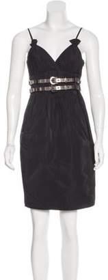 Thomas Wylde Sleeveless Mini Dress Black Sleeveless Mini Dress