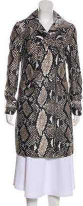 Diane von Furstenberg Wool & Silk Knee-Length Coat