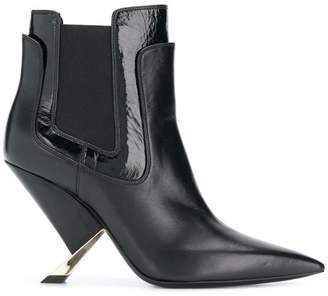 Casadei layered ankle boots