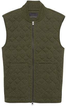 Banana Republic Quilted Brushed Thermal Vest