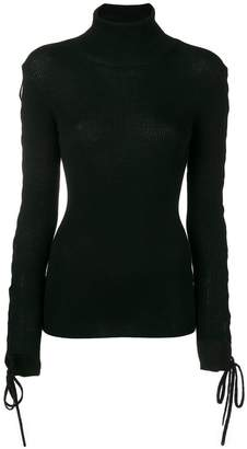 P.A.R.O.S.H. laced sleeve turtleneck sweater