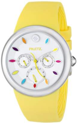 Philip Stein Teslar Fruitz by Unisex F43S-TF-Y Stainless Steel Watch with Yellow Silicone Band