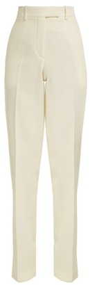 Calvin Klein Side Striped Wool Trousers - Womens - White