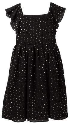 Pippa Pastourelle by and Julie Metallic Dot Ruffle Dress (Big Girls)